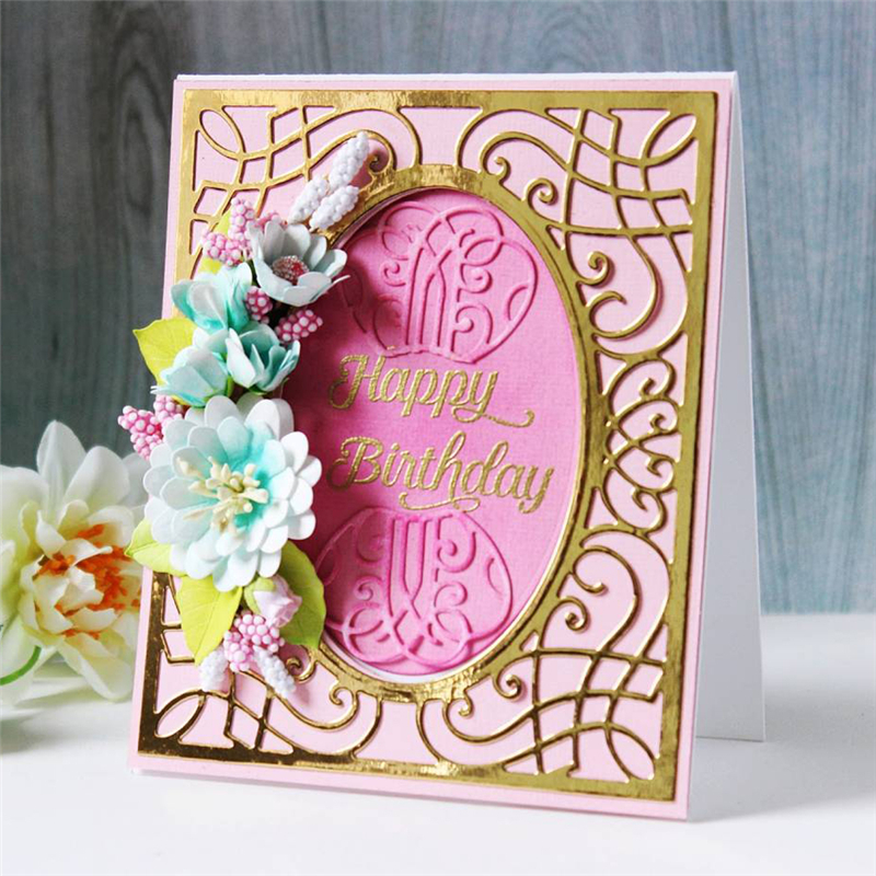 Naifumodo Square Lace Dies Metal Cutting Dies Scrapbooking Diamond Background Embossing Paper Card Crafts New Dies for 2019 in Cutting Dies from Home Garden