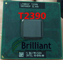 free shipping original intel Pentium Dual Core T2390 1.86GHz Notebook processors Laptop CPU Socket P 478 pin Computer