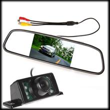 by dhl or ems 50pcs 4.3 Inch Color TFT LCD Parking Car Rear View Mirror Monitor 4.3'' Rearview DVD AV Monitor