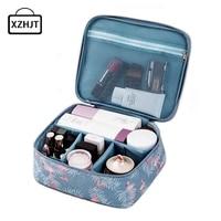 Women Cartoon Flamingo Cosmetic Bag Function Makeup Bag Travel Trunk Zipper Make Up Organizer Storage Pouch