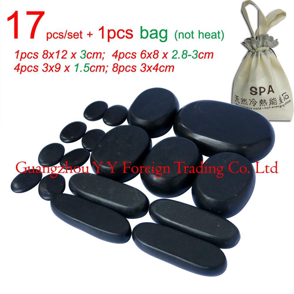 17pcs/set thicken new type basalt stone massager body massage stone set Salon SPA CE and ROHS 2pcs set new type 100