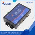 Промышленные 2 порта последовательные устройства серверные модемы RS232 RS485 RS422 к TCP IP Ethernet конвертер с ModBus шлюз RTU DHCP Q039