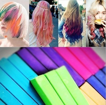 Free Shipping 12Colors Hair Color Pastel Powder Stick Dye Chalk Hair Care Styling Tools