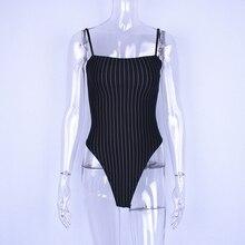 Black and White Straps Bodysuit