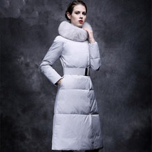 2016winter fashion ultra long over-the-knee down cotton-padded jacket thickening long design slim down coat overcoat
