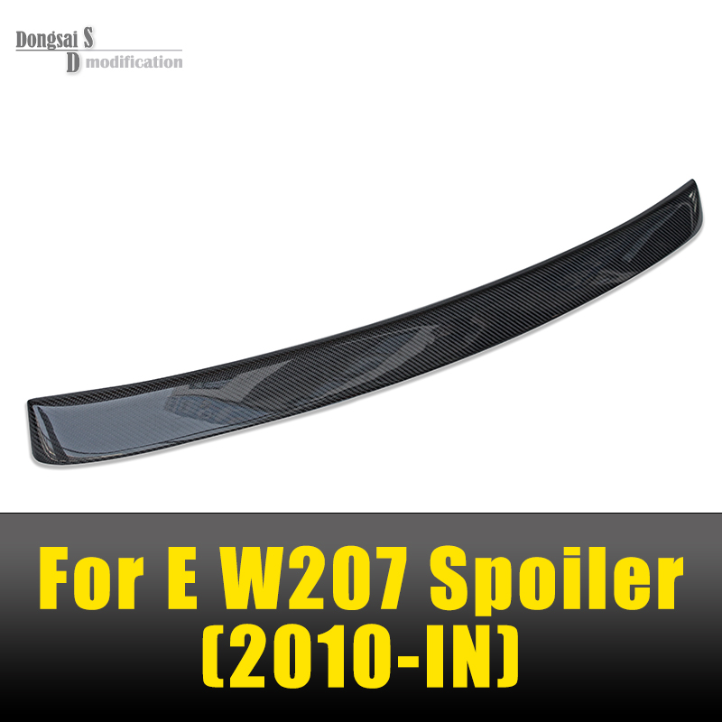 Mercedes W207 Carbon Fiber Lorinser Style Roof Spoiler For Benz E Class W207 2010 + E350 2 Door Coupe 6x 3d gloss twill carbon fiber b pillar trim for mercedes benz fit e class w212 09 14