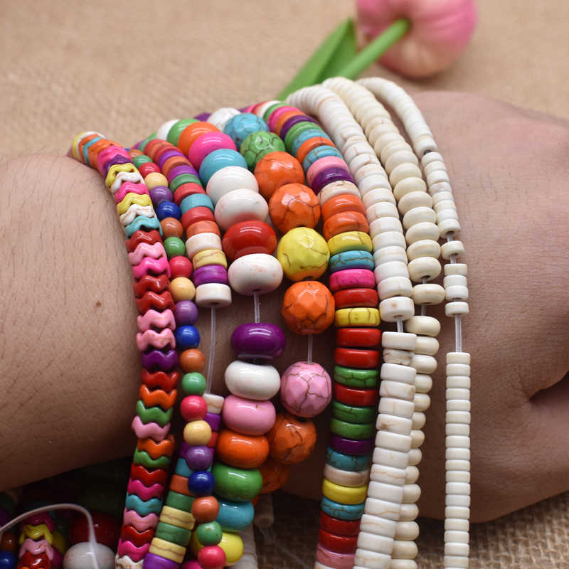 """Gratis Pengiriman Batu Alam Bulat Longgar Pengatur Jarak Manik-manik 15 """"Strand Pilih Ukuran untuk Perhiasan Membuat Warna Batu Beads Aksesoris"""