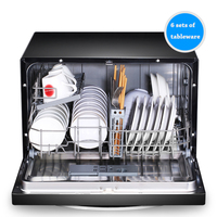 Automatic Dish Washers Household Brush The Machine Large Capacity Dishwasher Commercial 1160W WQP6 3206A CN