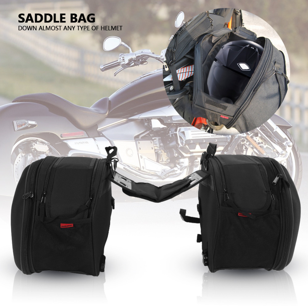 Multi-Function Motorcycle Panniers Saddle Bags Waterproof Carbon Fiber Motorcycle Side Bag Large Capacity Luggage Bags for Travel and Riding Gorge-buy Motorcycle Saddlebags