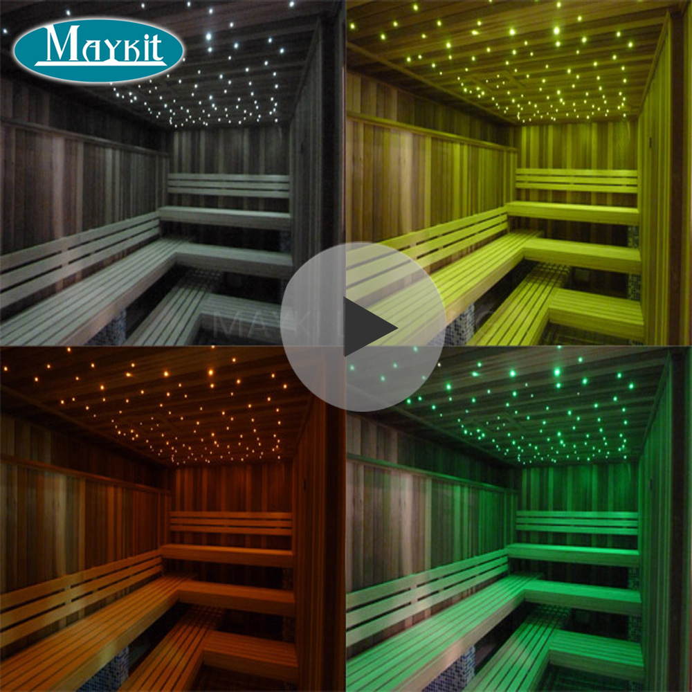 Maykit LED 5W Fibre Light Engine With 1.5mm 2m End Lit Strands For Sauna Star Ceiling Bedroom Bathroom Steam Room Decoration
