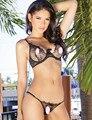 New Erotic Lingerie 2016 Sexy Sujetador de Encaje Ajustado Con Correa Bra + Panty + Correa Pijamas Caliente Para Las Mujeres R80338