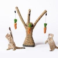 Cat Scratch Board Training Toy Pet Supply Cat Tree Climbing Frame Column Rack Rolling Sisal Scratching