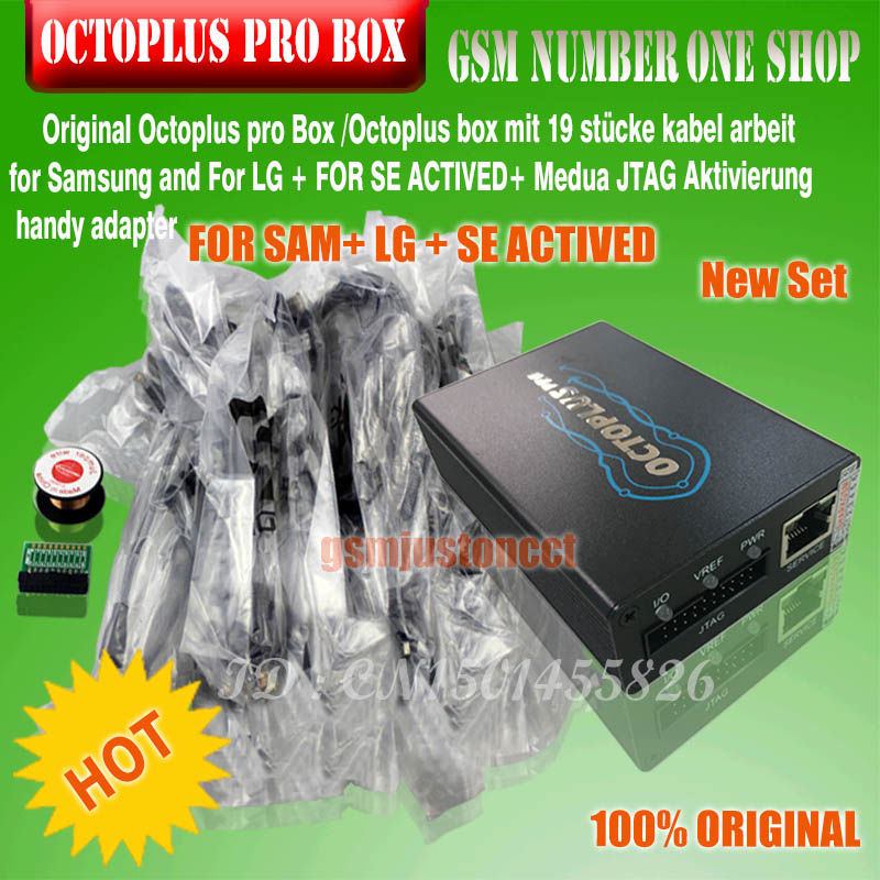 US $365 8 |Original new octoplus pro box or OCTOPLUS PRO BOX setfor LG  +Samsung+sony with Medua JTAG Activation with 19 pcs cables-in Telecom  Parts