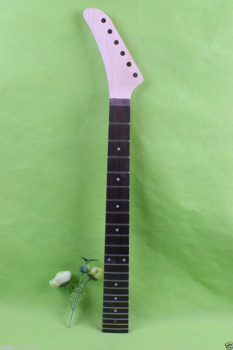 Left hand electric guitar neck 22 fret 25.5'' maple Fretboard Unfinished #1775 left hand electric bass guitar neck 21 fret 34 inch maple wood rosewood fretboard 719