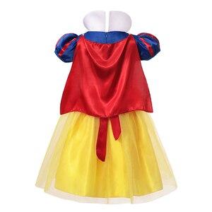 Детское платье Белоснежки для девочек; Костюм принцессы; Детские нарядные платья на день рождения и Хэллоуин для девочек; Маскарадное плать...