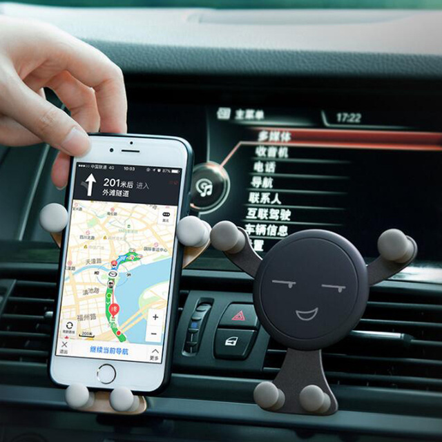 Universel Magnétique Mini Smiley Trépied Smartphone Support De Support Pour Iphone Samsung Xiaomi pour Évent de Voiture Support de support pour téléphone