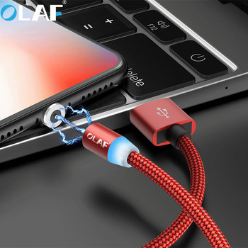 OLAF 1M 2M Fast Charging LED Micro USB Type C Cable For Xiaomi For Samsung Mobile Phone Charger Cord For iPhone 7 8 X XR XS Max