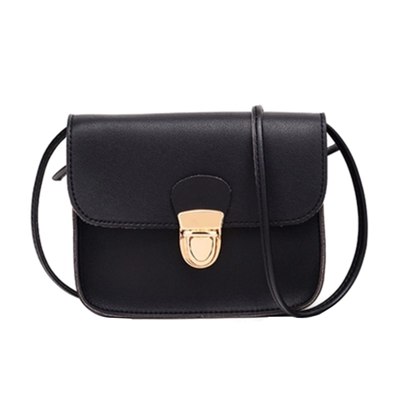 Trend Women Messenger Bags Woman Bag New Simple Women Fashion Solid Color Cover Lock Shoulder Crossbody Phone Beach Bag