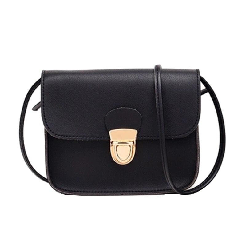 Trend Women Messenger Bags Woman Bag New Simple Women Fashion Solid Color Cover Lock Shoulder Crossbody Phone Beach Bag