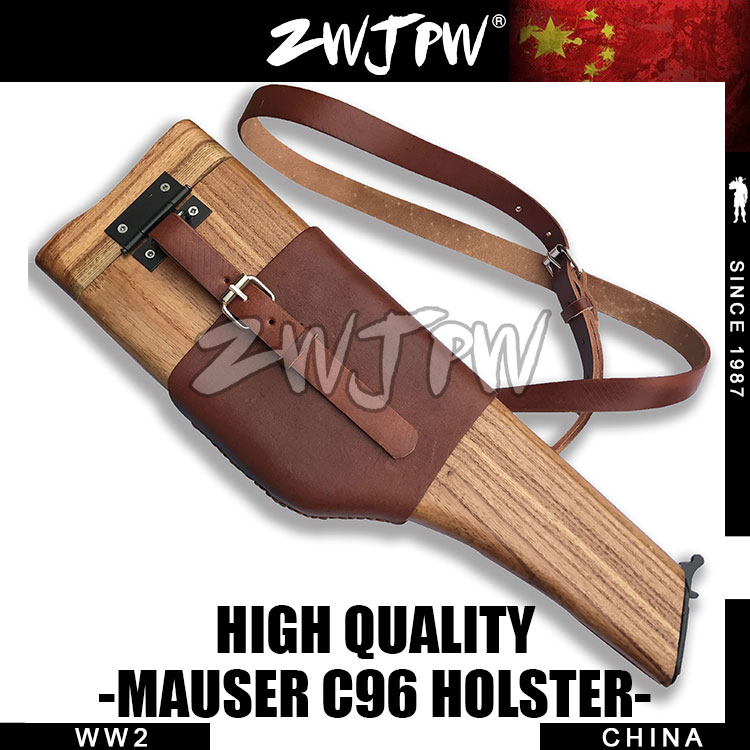 Фотография German Mauser C96 Wooden Holster With Brown Leather Strap CN.DE/103112