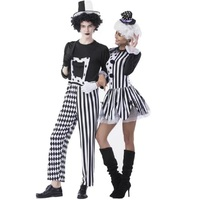 Circus Joker Dress Women Clown Cosplay Uniforms Halloween Costumes For Women Men 2017