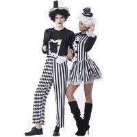 Circus Joker Dress Women Clown Cosplay Uniforms Halloween Costumes For Women Men 2017