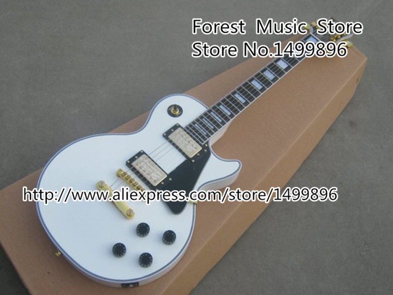 Free Shipping Chinese White 50th Anniversary LP Custom Electric Guitar Left Handed Custom Available In Stock free shipping 5pcs in stock 51117 tps51117pw