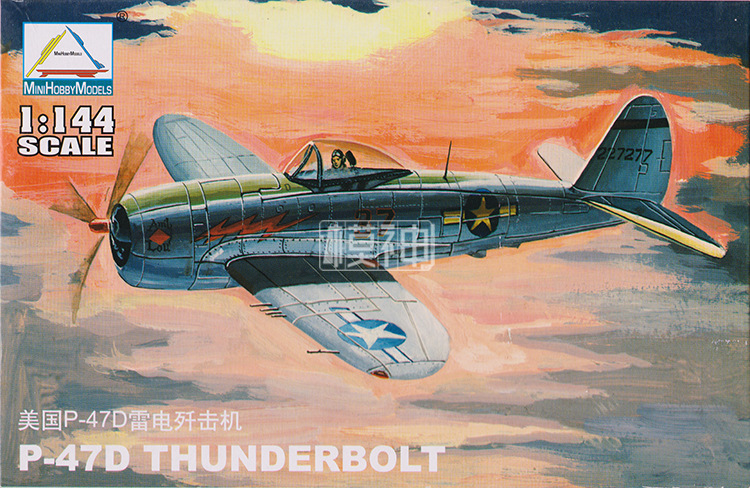 1:144 USA P-47D THUNDERBOLT Fighter American Military Assembled Aircraft Model 80404