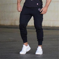2018 Brand Muscle Fitness Mens Long Pants New Casual Cotton Trousers Exercising Bodybuilding Gyms Breathable Pants