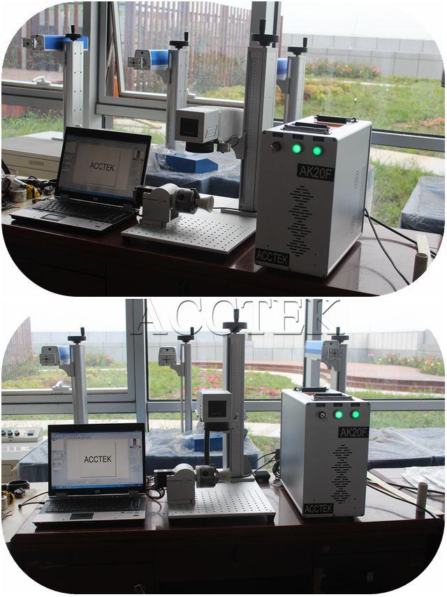 CNC Germany IPG Metal Tag Stainless Steel Fiber Laser Marking Machine With 10w 20w 30w 50w