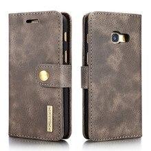 Для Samsung A3 2017 случай Многофункциональный съемный футляр из натуральной кожи для Samsung Galaxy A3 2017 wallet case коке слот для карт
