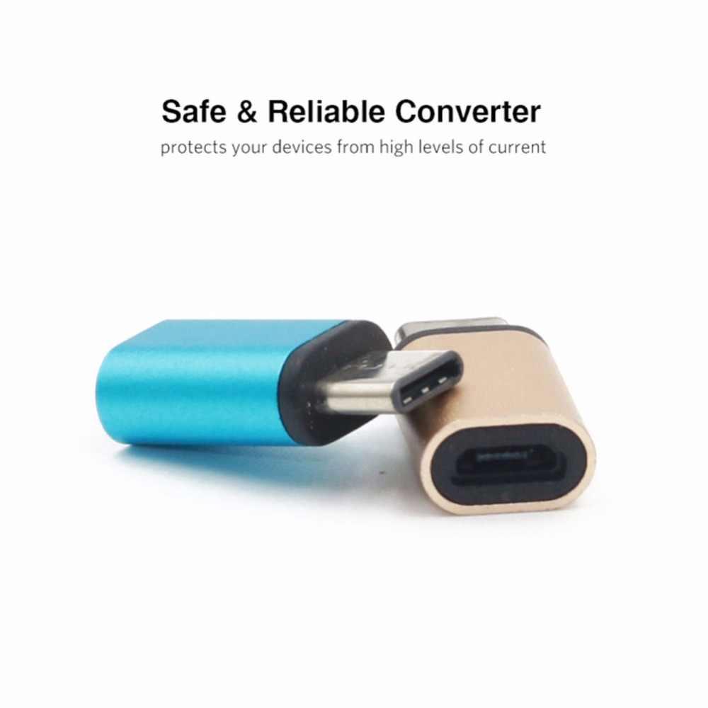 USB 3.1 Tipe C Male To Usb Mikro Perempuan Adaptor Converter Konektor USB-C OTG untuk Tablet Ponsel