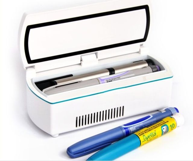 Dhl Dison Medical Insulin Cooler Fridge Portable Refrigerator With Rechargeable Batteries Bag Working