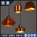 Винтажный подвесной светильник скандинавский пористый Лофт E27 LED Железный травления абажур бар ресторан лампа креативный стиль ржавчина по...