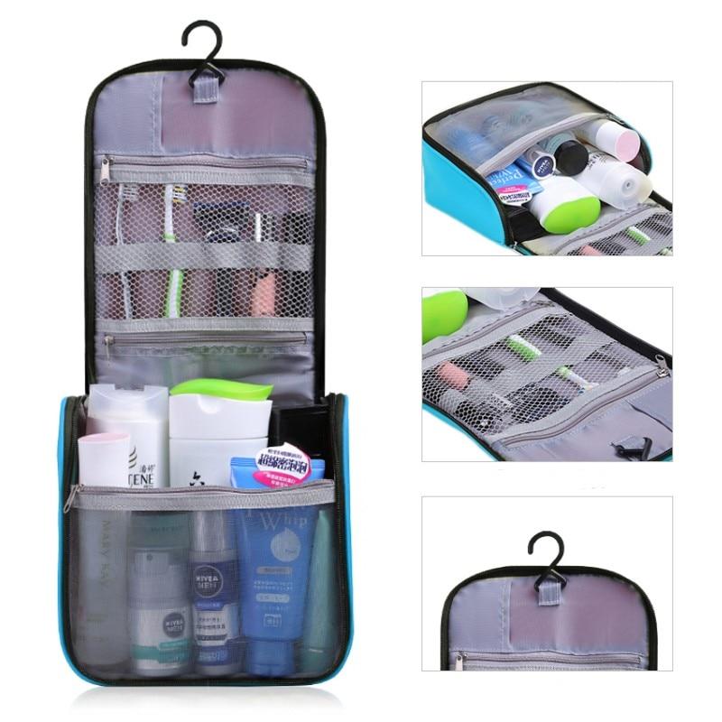 New Neceser Portable Cosmetic Bag Hanging Organizer Makeup Bag Womens Bathroom Shower Toiletry Washing Travel Makeup Kit Bag