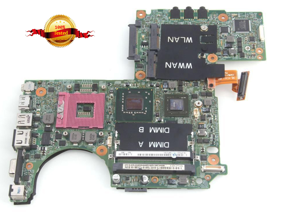 все цены на for DELL XPS M1330 0PU073 laptop motherboard for intel cup with G86-631-A2 upgrated graphic card free shipping CN-0PU073 онлайн