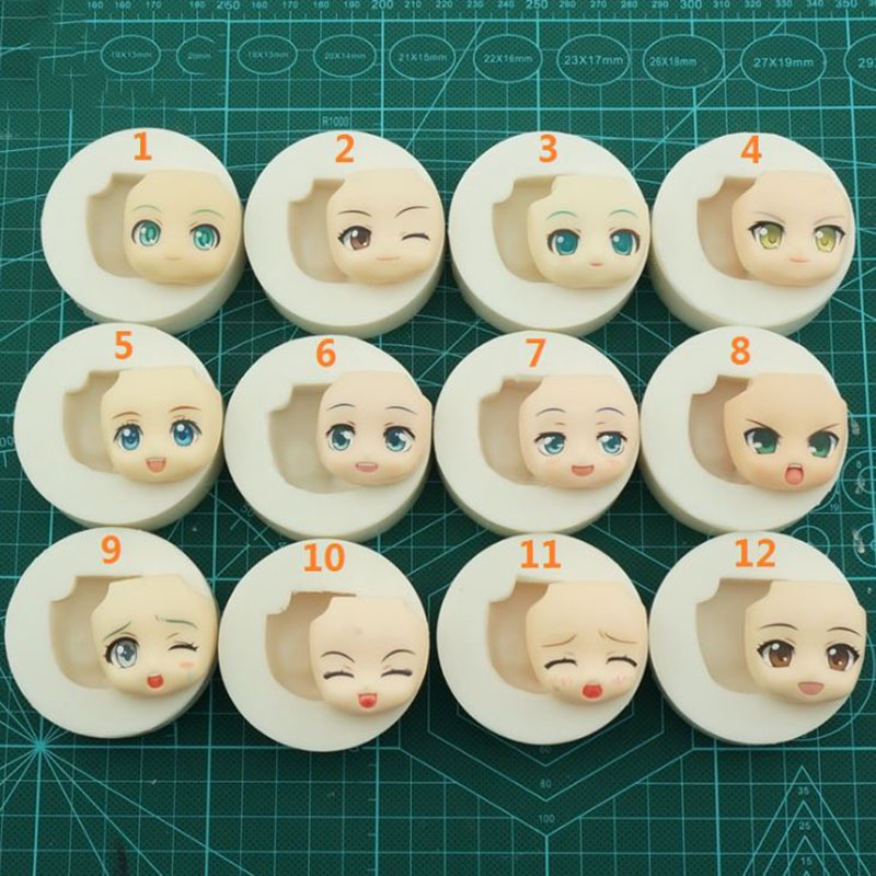 hot sale Baby Face Silicone Mold Chocolate Polymer Clay Craft Molds Handmade Craft Sugarcraft Mould Baking Tools