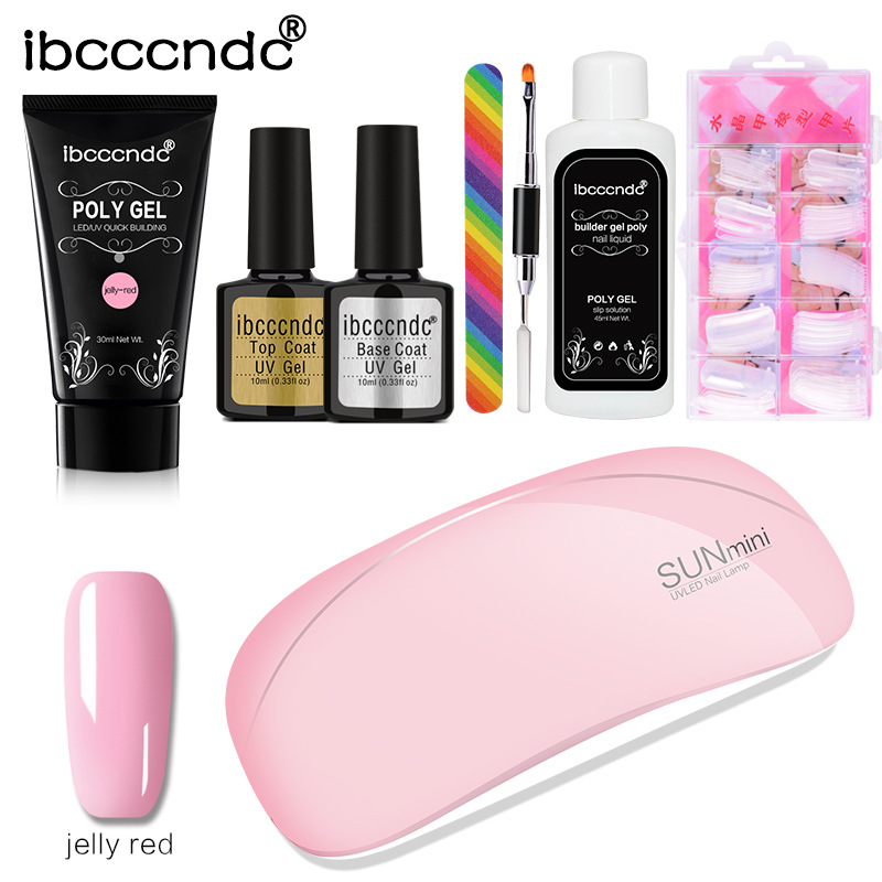 Image 5 - 1 set Extend Builder Polygel Nail Kit Poly Gel Set Nail Quick Extension UV LED Hard Gel Acrylic Builder Gel with Nail Lamp-in Sets & Kits from Beauty & Health