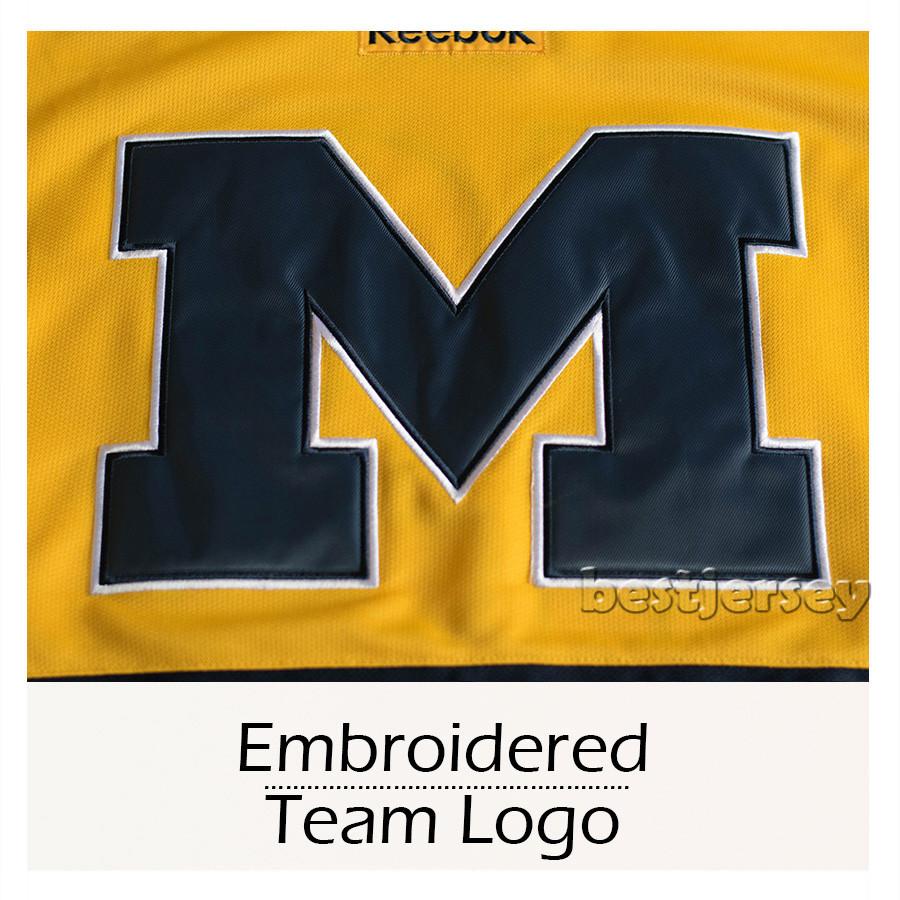 finest selection 97fb2 07a98 Kowell University of Michigan #12 Carl Hagelin Stitched ...