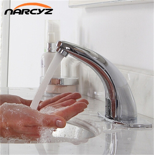 Automatic inflared Sensor Faucet for bathroom Sink water saving Inductive electric Water Tap mixer Free touchles coldwater HZY-2