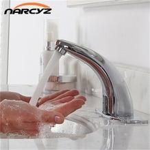 Автоматическая inflared Сенсор кран для ванной раковина экономии воды Индуктивный Электрический воды Смеситель Бесплатная touchless HZY-2