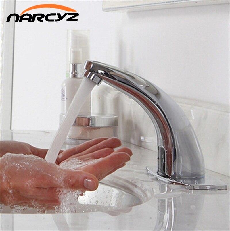 Automatische inflared Sensor Wasserhahn für waschbecken wassereinsparung Induktive elektrische Wasser mischbatterie Freies touchles coldwater HZY-2