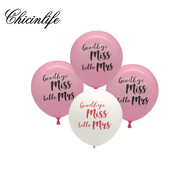 online shop chicinlife miss to mrs letter foil balloons bridal shower banner decor bachelorette party bride wedding hen party decoration aliexpress mobile