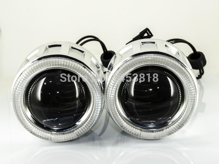 2.5 inch HID Bixenon projector lens CCFL Angel Eye+2pcs HID Xenon Ballast Block H1 H7 H4 H11 HB3 HB4 9004 9007 8000K 6000K 4300K