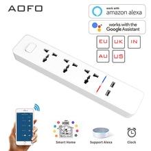 Wifi חכם כוח רצועת עם אוניברסלי 3 שקע 2 USB טעינת תחנת עבודה עם Alexa Google בית עוזר בריטניה/AU/האיחוד האירופי/הודו תקעים