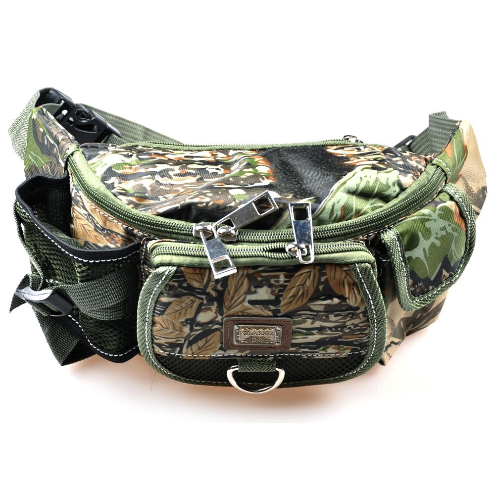 30x9x14cm Multifunctional <font><b>Carp</b></font> Fishing Bag 218g Army Green Camouflage Pesca Fishing tools Bags Fishing Tackle Bag For Fishing
