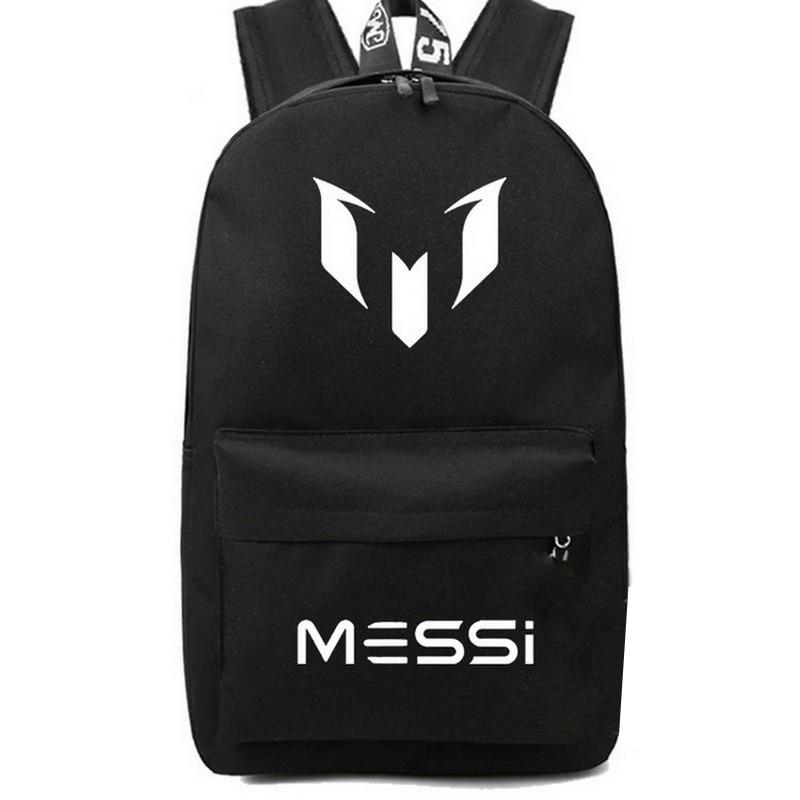 Teens Boy School Bag for Teenager Messi Backpack Black Cool Back Pack Men Travel back bag Large Capacity Kids Bagpack 2018 new
