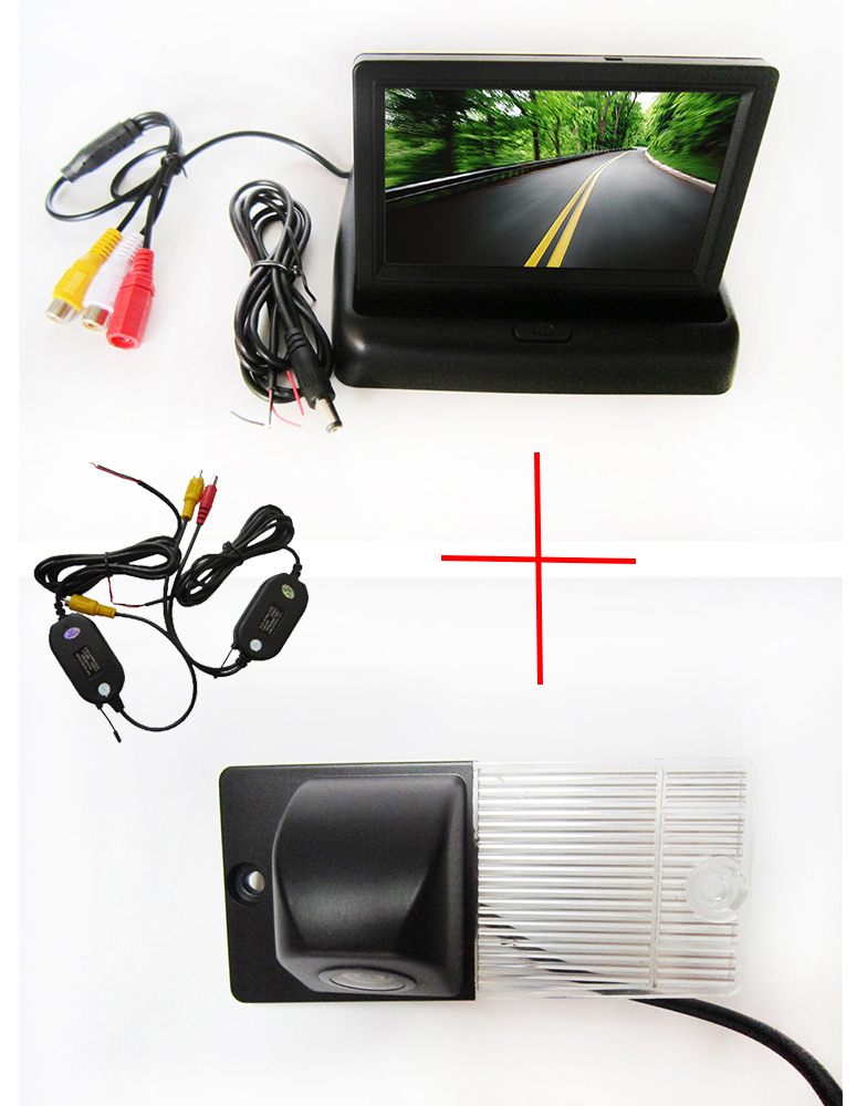 Wireless Color CCD Chip Car Rear View Camera for KIA SORENTO SPORTAGE + 4.3 Inch foldable LCD TFT Monitor wireless color ccd chip car rear view camera for kia sorento sportage 4 3 inch foldable lcd tft monitor