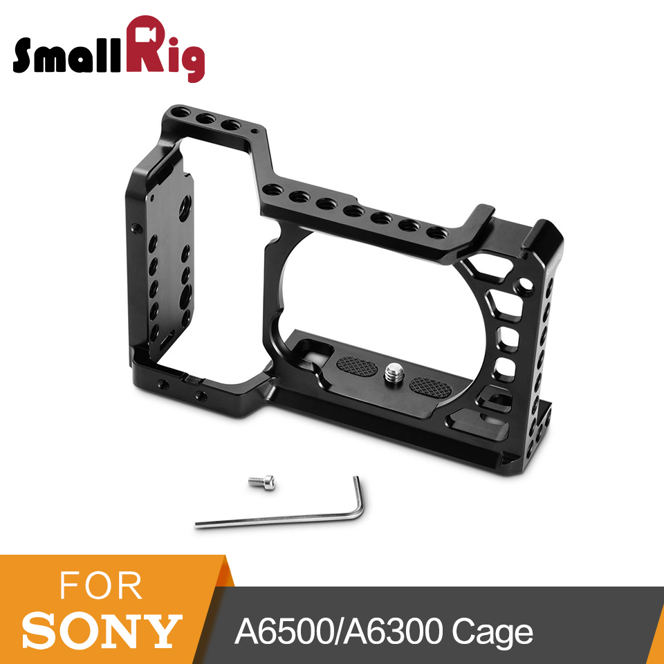 SmallRig For <font><b>Sony</b></font> <font><b>A6500</b></font>/A6300 Camera Cage Upgraded Version Protective Dslr Camera Rig For <font><b>Sony</b></font> <font><b>A6500</b></font> Aluminum Alloy Cage -1889 image