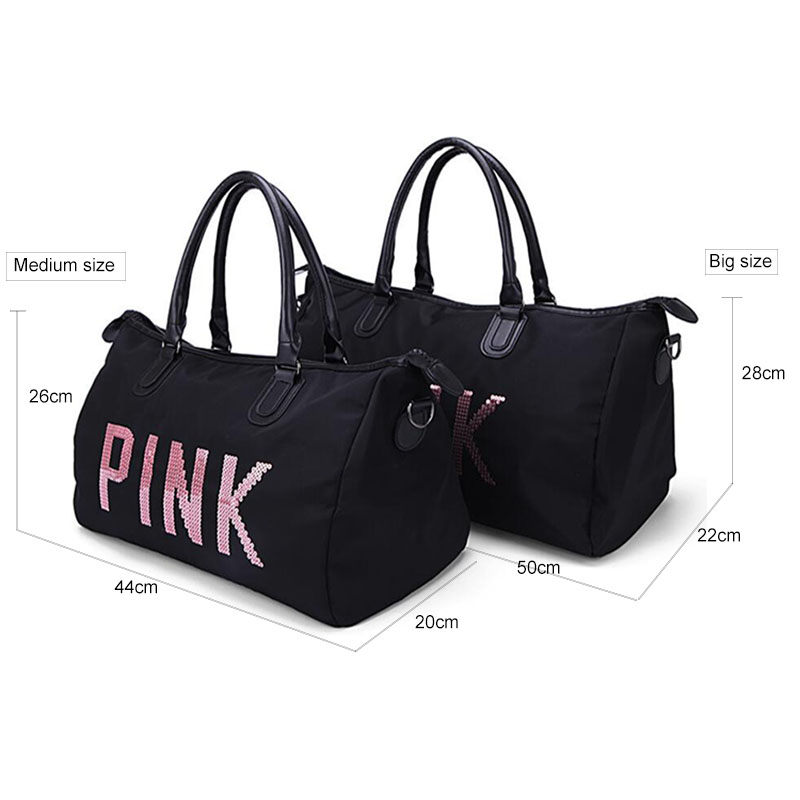 738ae1a8d67b Designer Metal Sequins letters Gym bag for women large sport fitness bag  Women Tote Handbag Travel Duffle Bolsa-in Gym Bags from Sports    Entertainment on ...